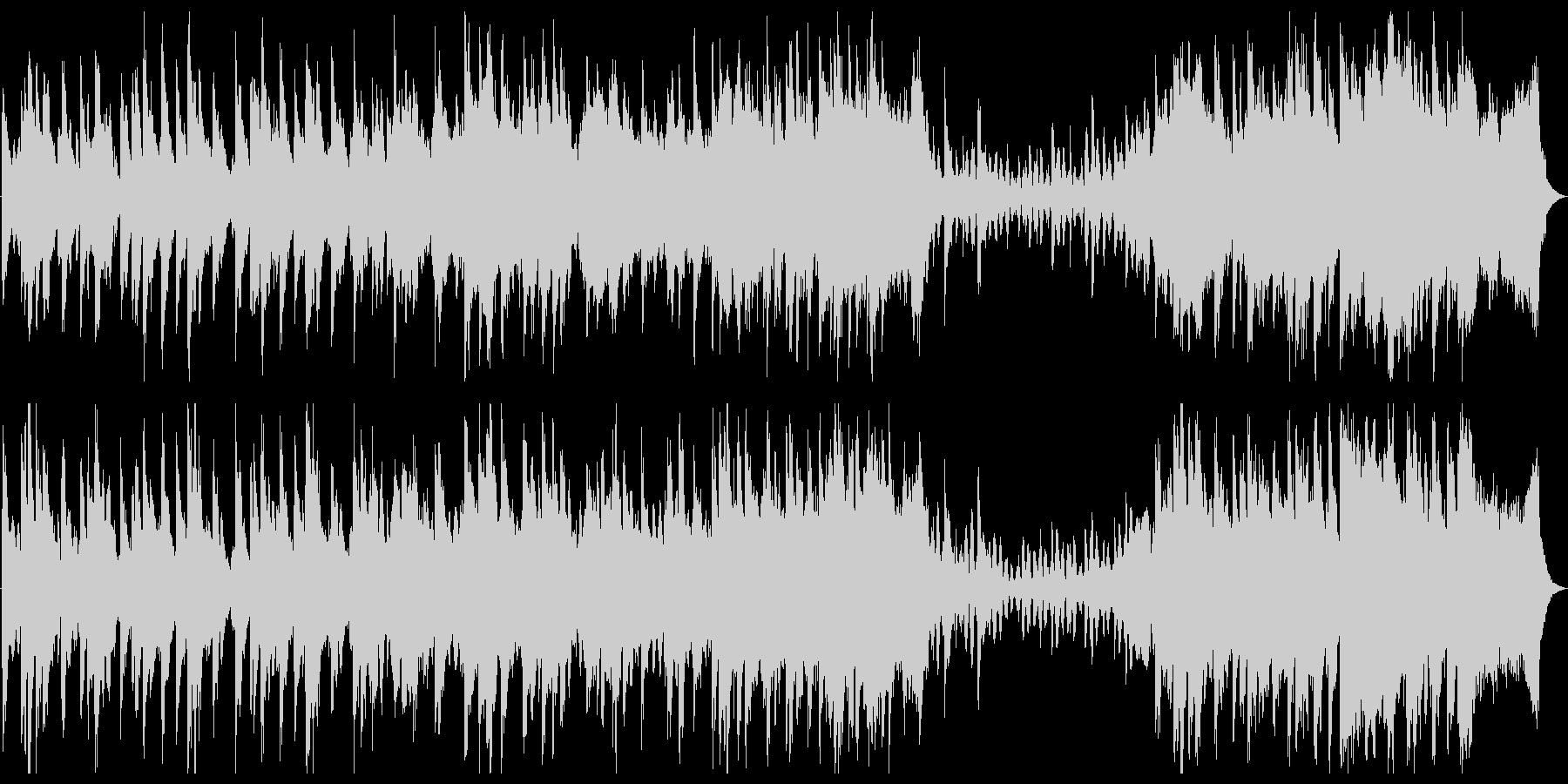 回想シーン 思い出 一息 丸いピアノの未再生の波形