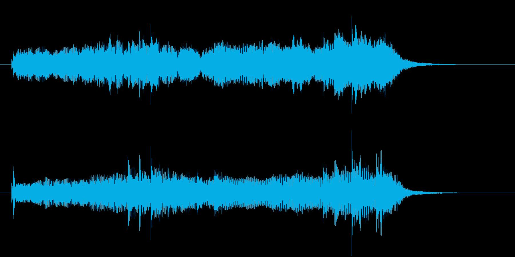 和やかで幻想的な音楽の再生済みの波形