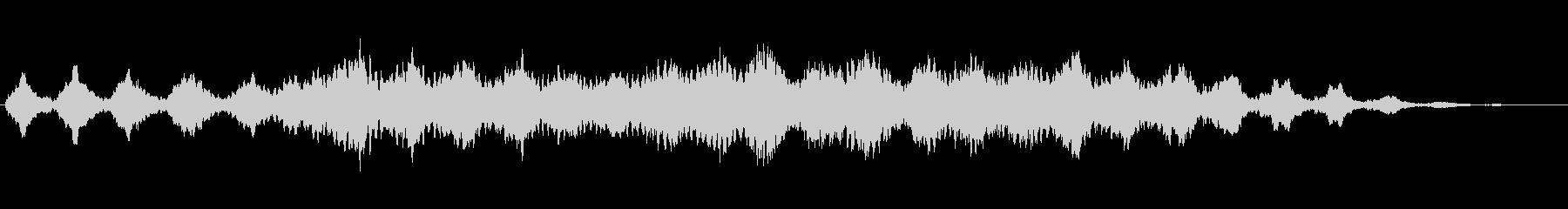 南極の銀世界をイメージした環境音楽の未再生の波形
