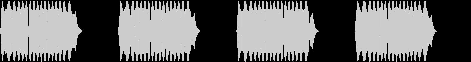 警報アラーム音(高bpm58)ドライ音の未再生の波形