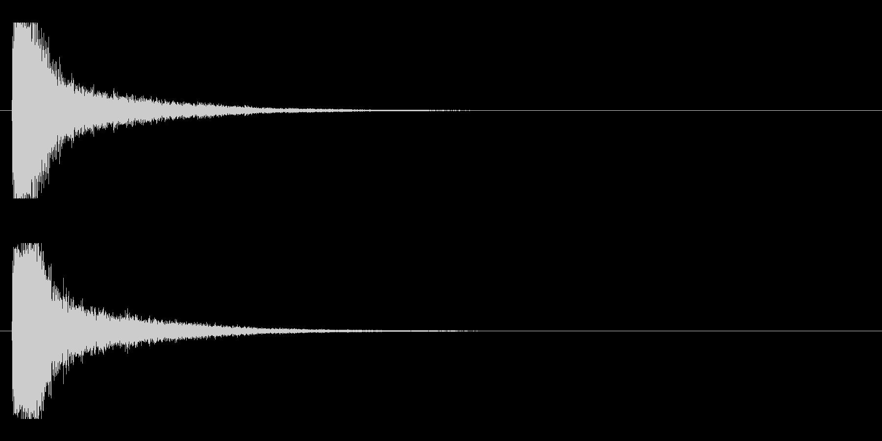 レーザー音-11-1の未再生の波形
