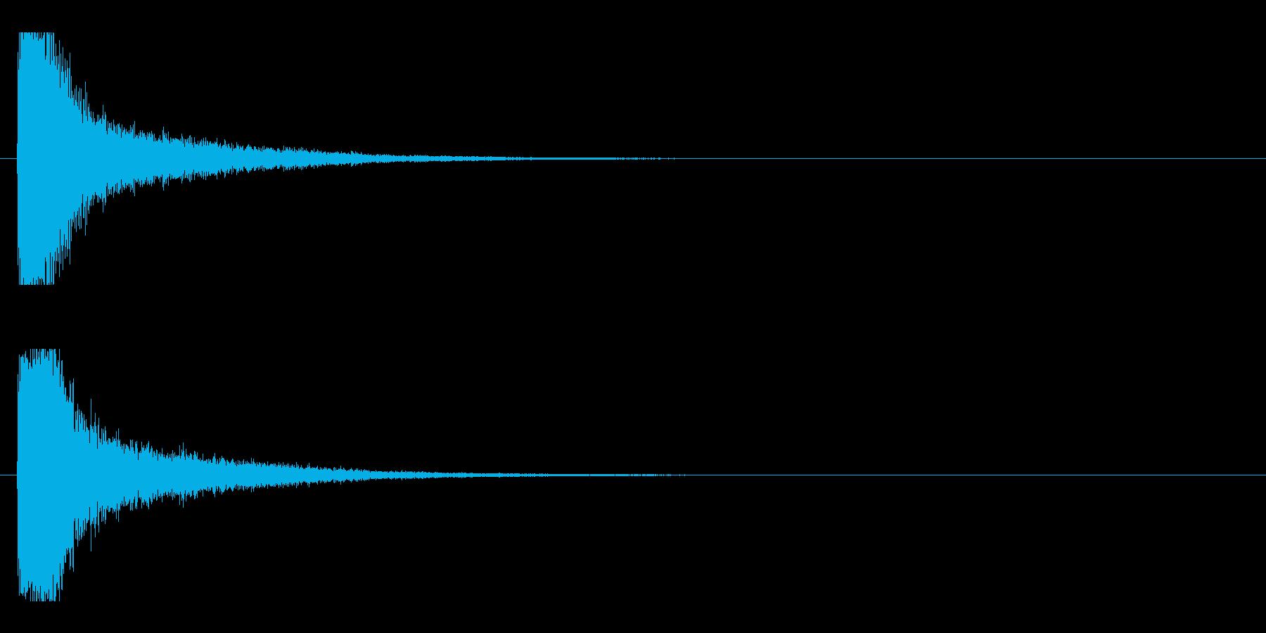 レーザー音-11-1の再生済みの波形
