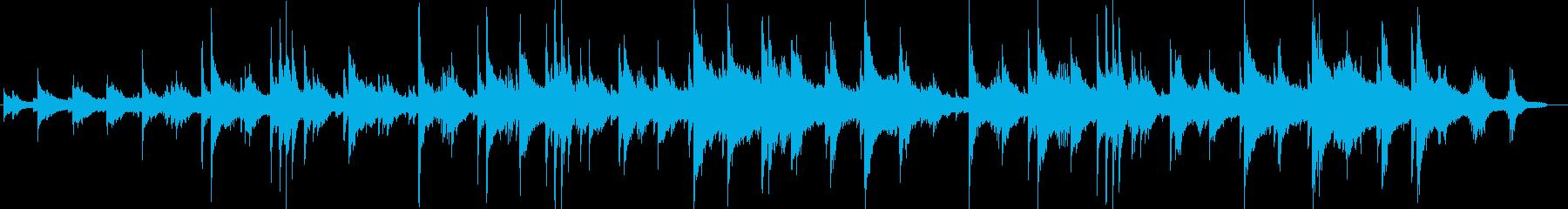 羽ばたくようなピアノサウンドの再生済みの波形