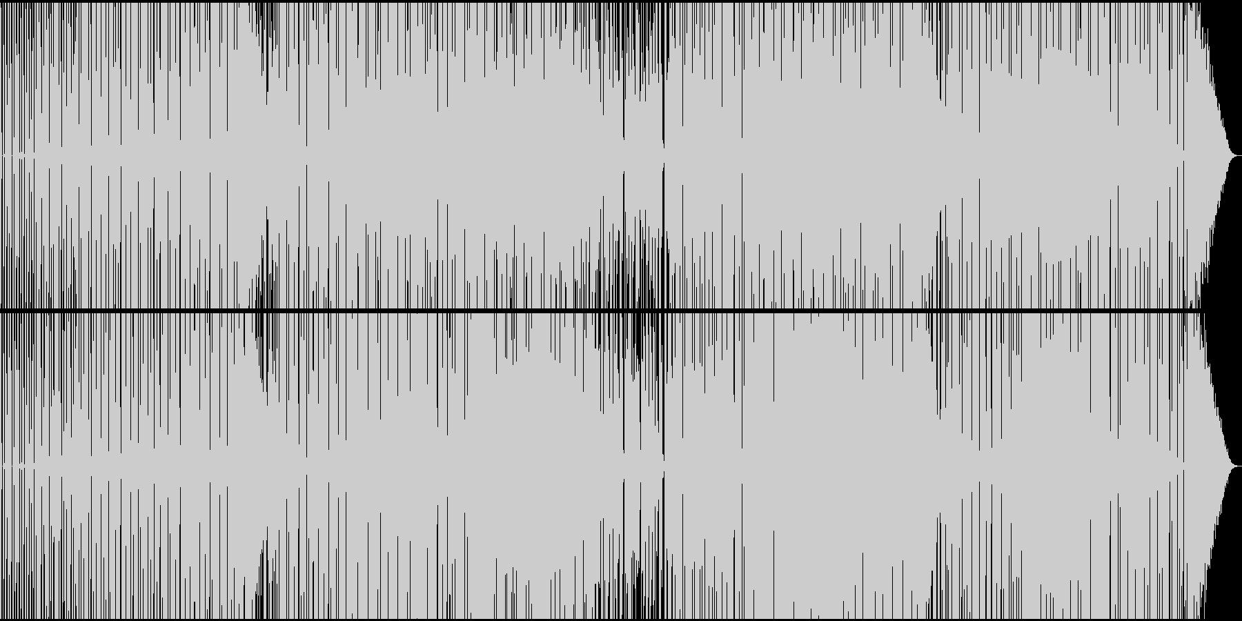 淡々とした無機質シンセサウンドの未再生の波形