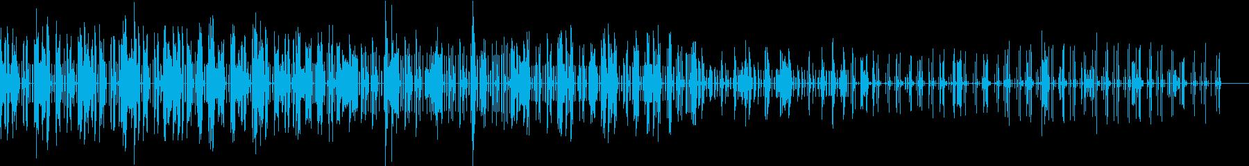 クールな現代風ノイズテクノの再生済みの波形