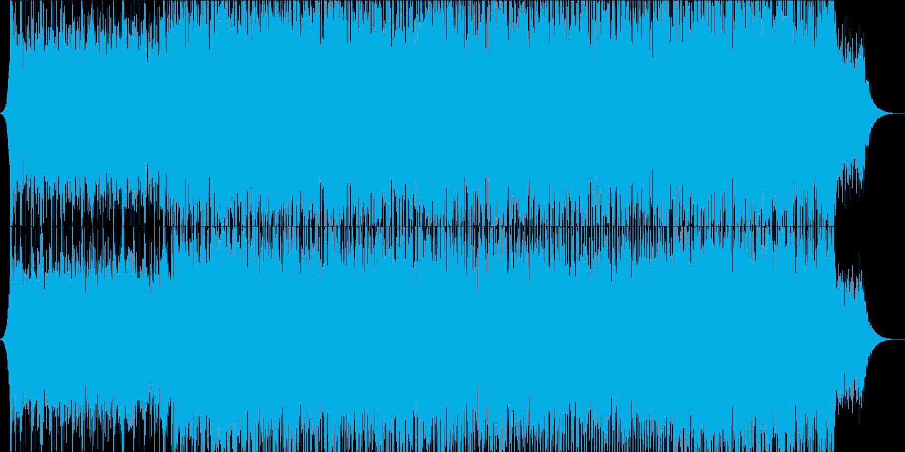 やる気を起こさせる、ポップロックの再生済みの波形