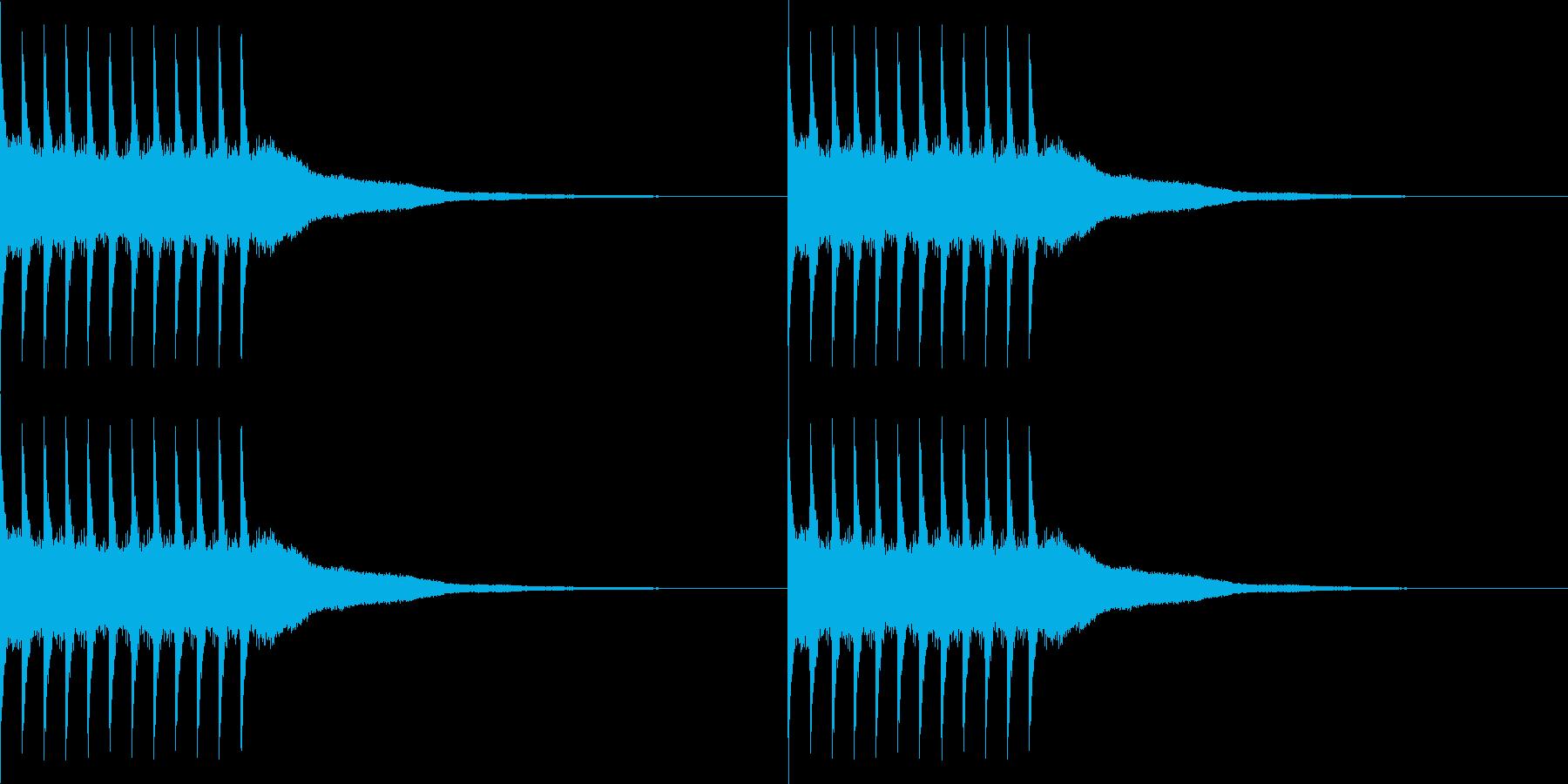 リリリ..。黒電話のベルC(短め)の再生済みの波形