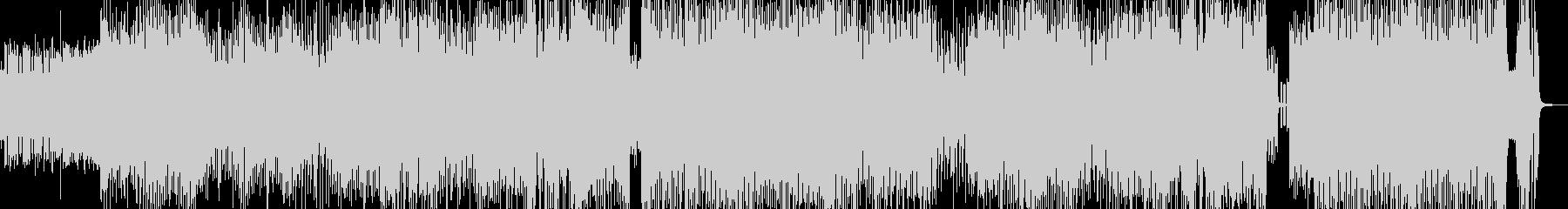 クセになるメロディのコミカルテクノ 長尺の未再生の波形