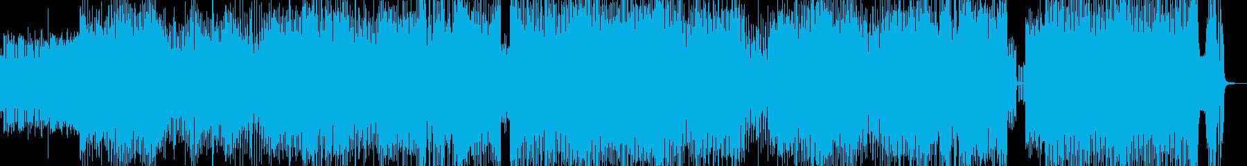 クセになるメロディのコミカルテクノ 長尺の再生済みの波形