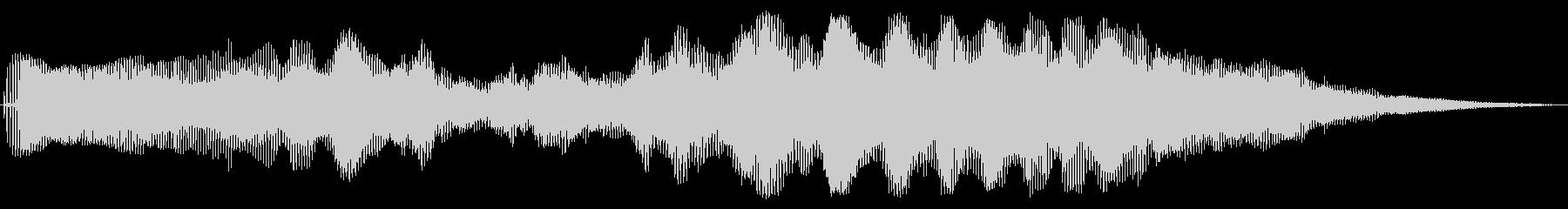 電子振動層状音の変化の未再生の波形