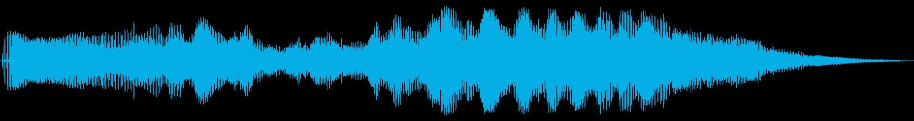 電子振動層状音の変化の再生済みの波形