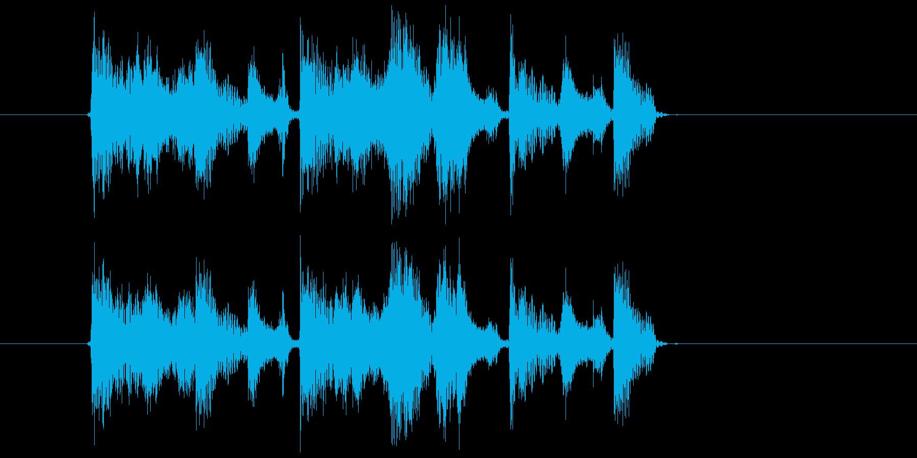 シュビドゥパパ(コミカル、ボイス音)の再生済みの波形
