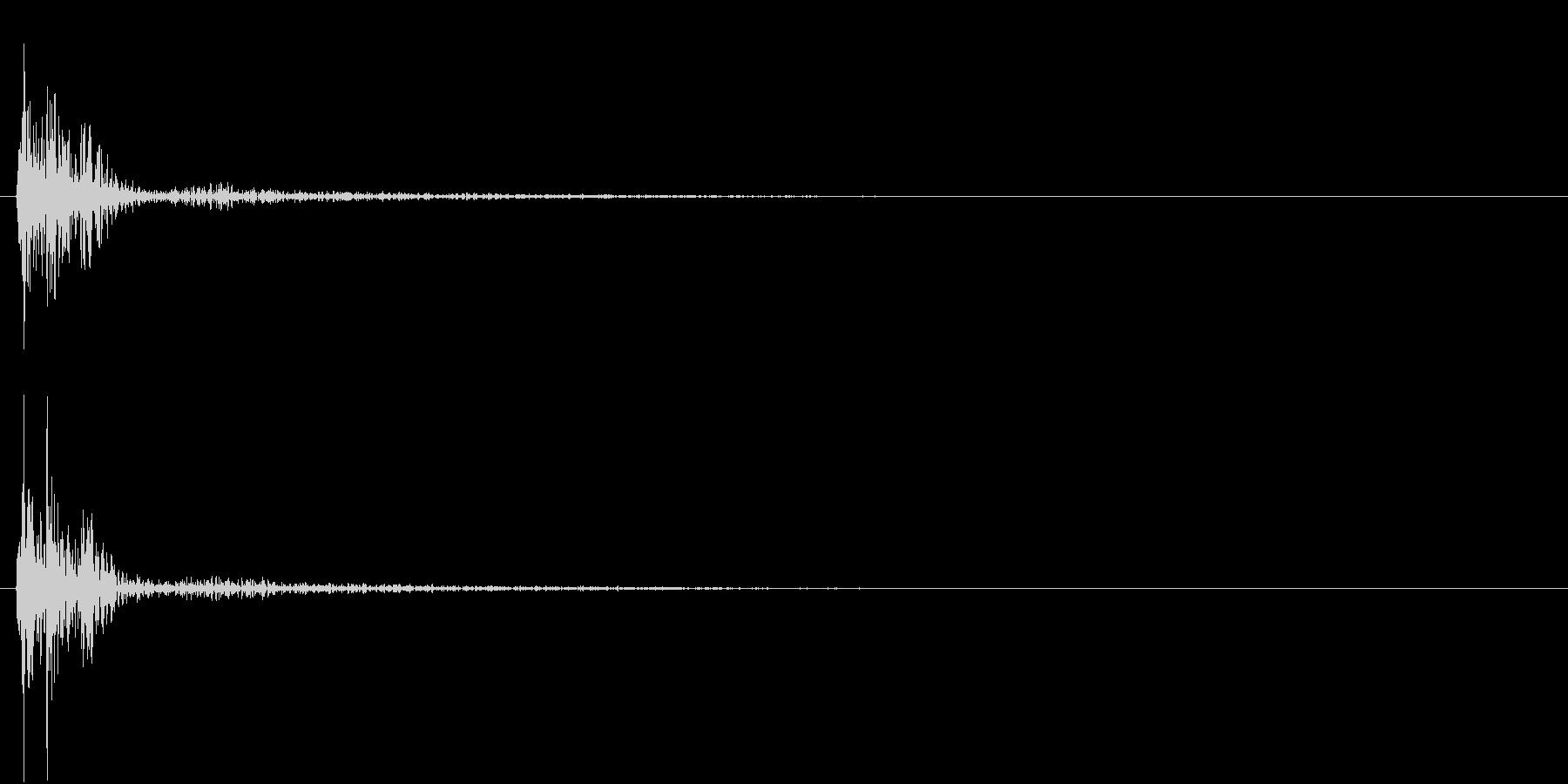【生録音】お箸の音 11 カチンと揃えるの未再生の波形