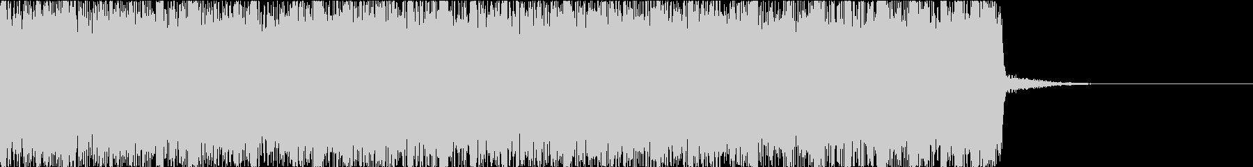 燃えたぎるハードロックメタルのジングルbの未再生の波形