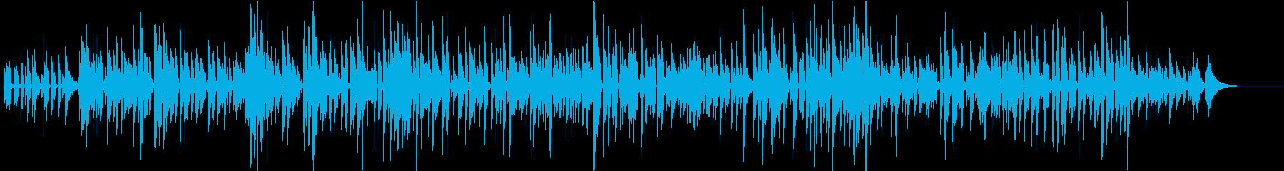 爽やかで少し切ないボサノバの再生済みの波形