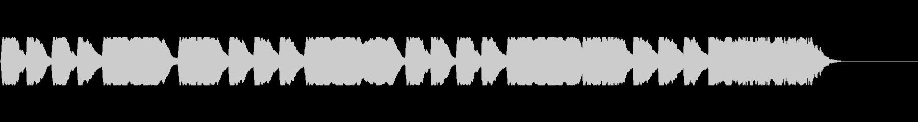 信号ラッパ系音素材の未再生の波形