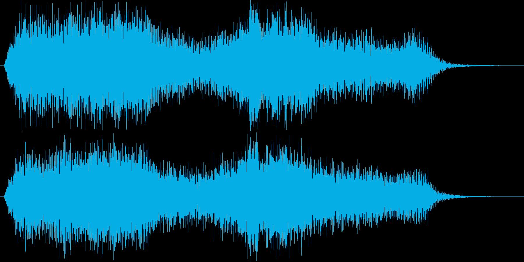 謎めいた感じのある不気味な音楽の再生済みの波形