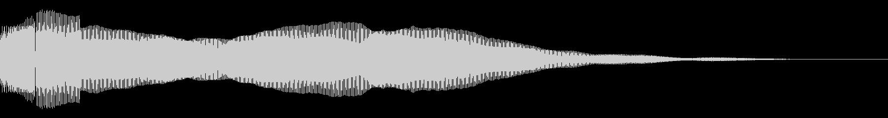 決定/ボタン押下音(ピンッ)の未再生の波形