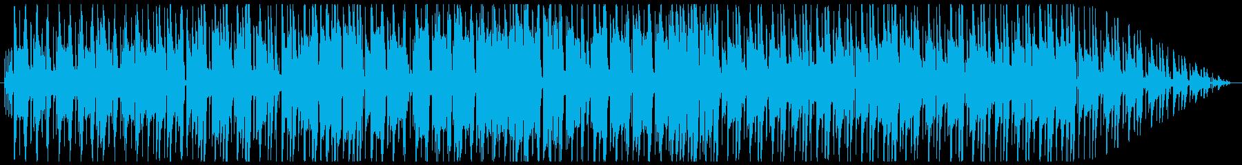 ジャックスイング風の夜のBGMの再生済みの波形