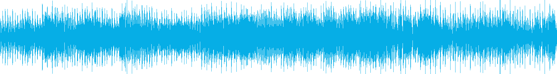 激しく踊るダンス系BGM|テクノ・ループの再生済みの波形