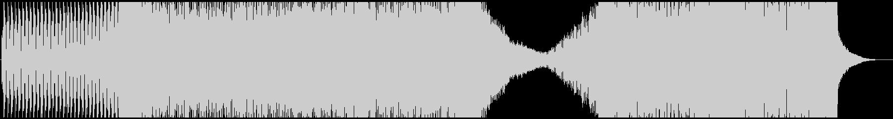 シンプルで緊迫感のあるEDMの未再生の波形