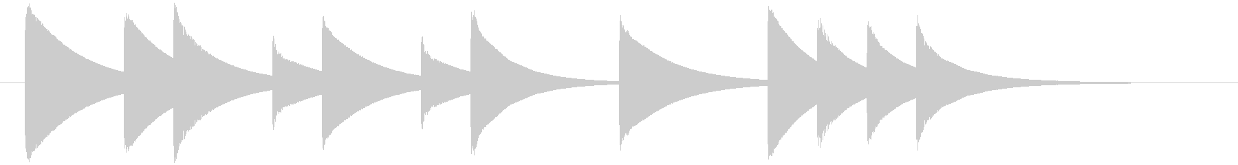 ゆったりした優しいオルゴールのジングルの未再生の波形