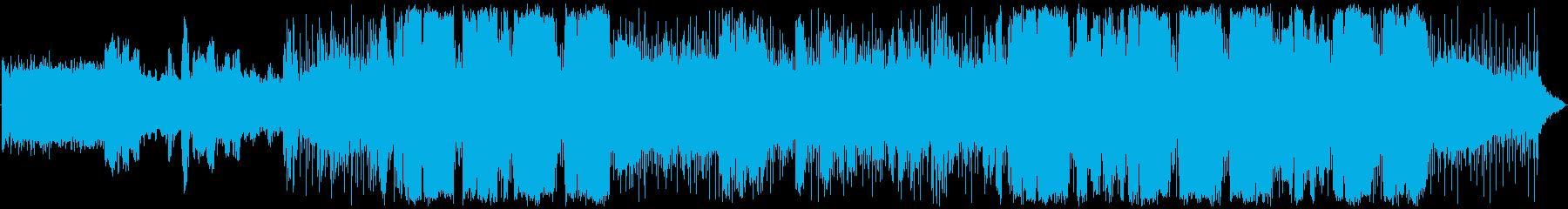 ニューミュージック風のロックバラードの再生済みの波形