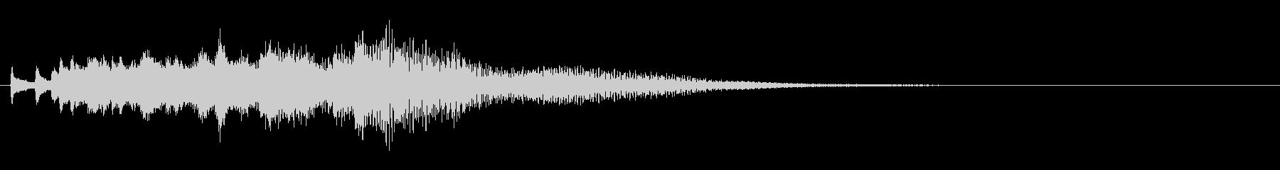 ピロピロピロ ハープの下りアルペジオの未再生の波形