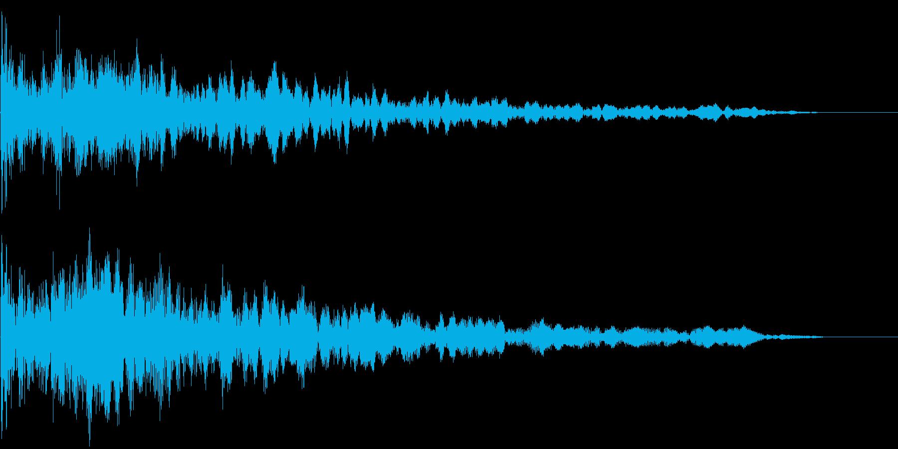 【ホラー】ヒット_13 ドーンッ・・・の再生済みの波形