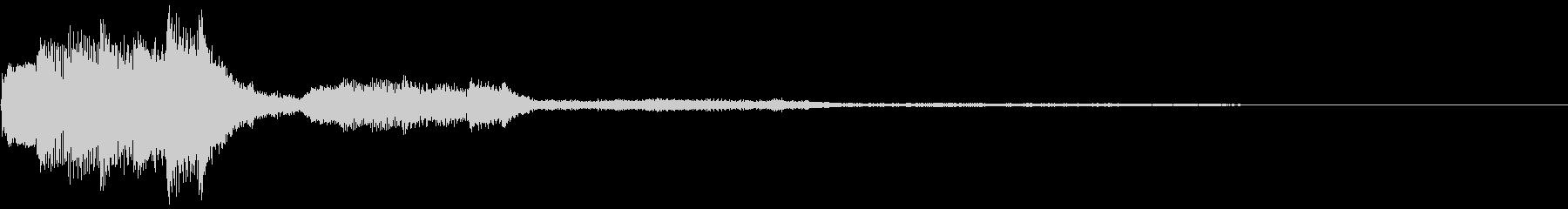 ピアノのサウンドロゴ「純白・光・透明」の未再生の波形