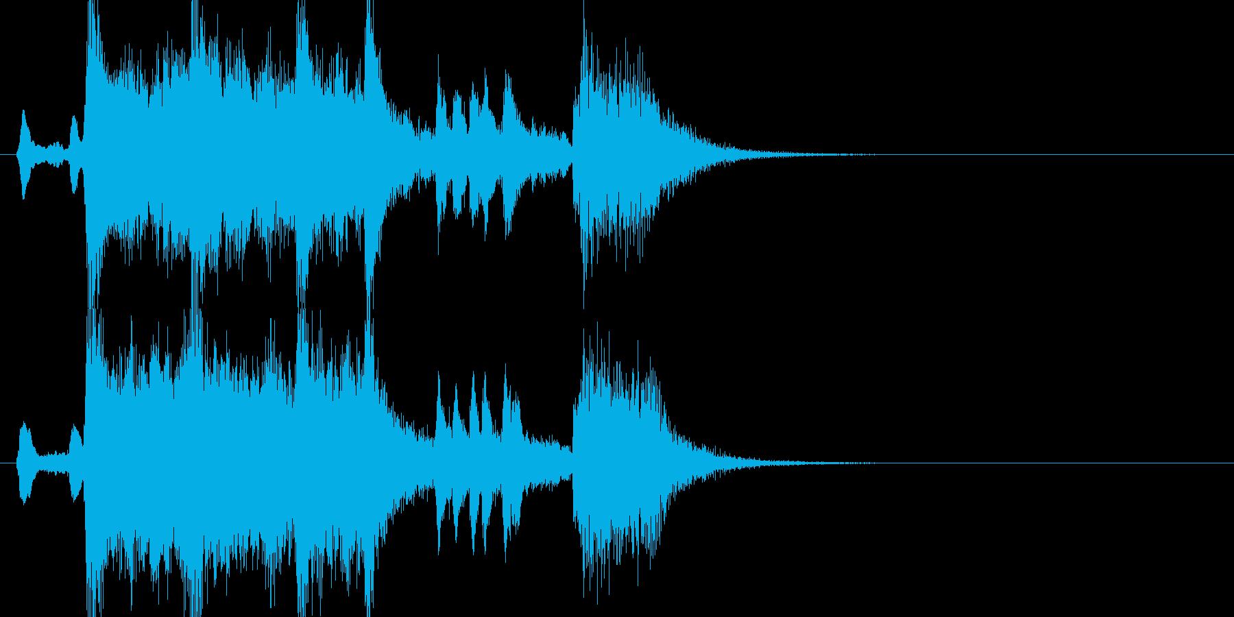 「発表!!」期待が高まるファンファーレの再生済みの波形