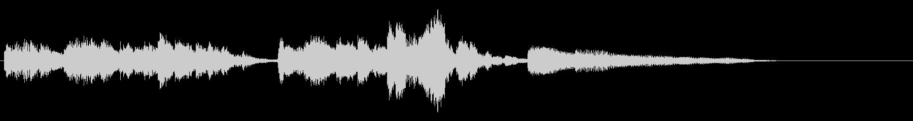 ショパンの子犬のワルツの一部抜粋と効果音の未再生の波形