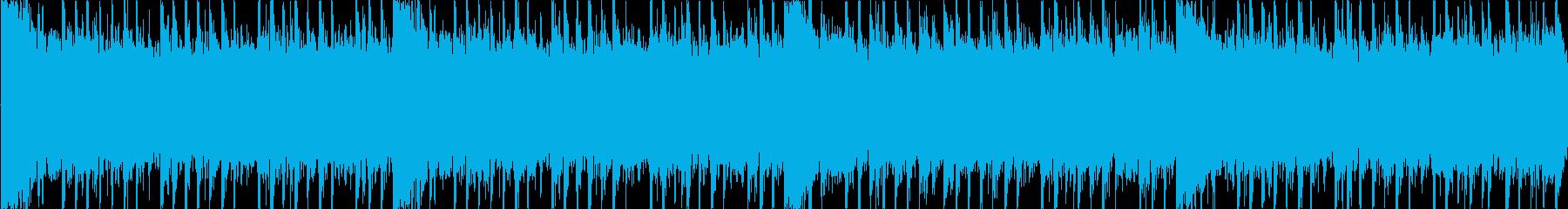ロックサウンド系のループ曲ですの再生済みの波形