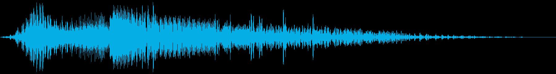 エンジンをふかす音の再生済みの波形
