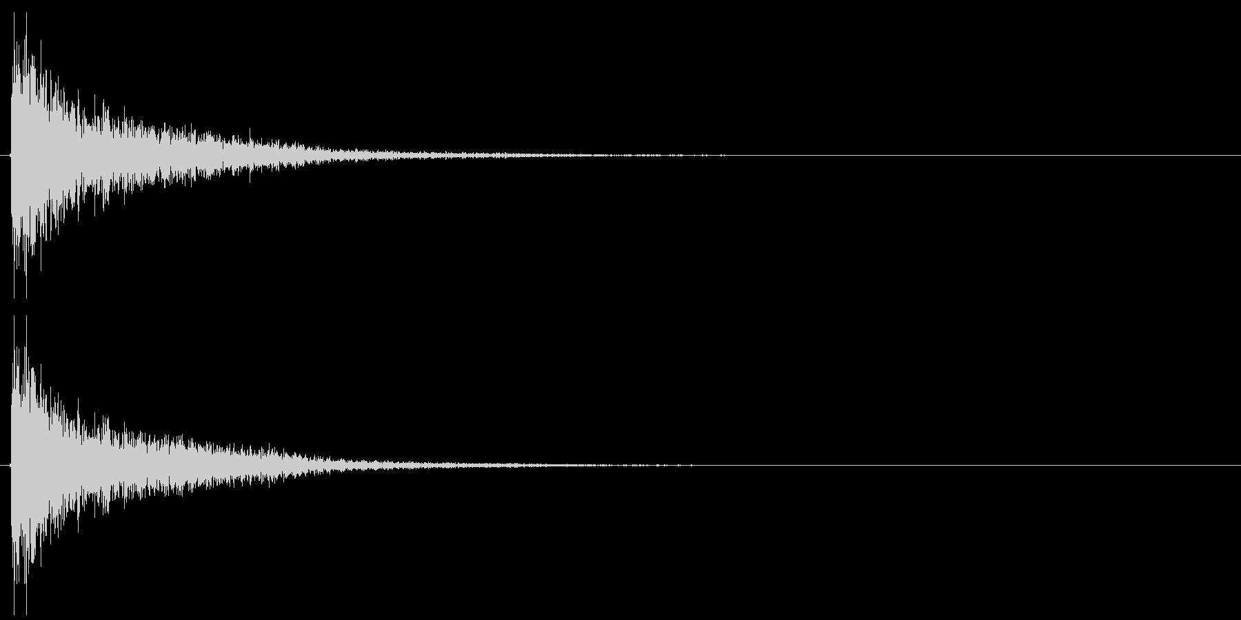 シューンの未再生の波形