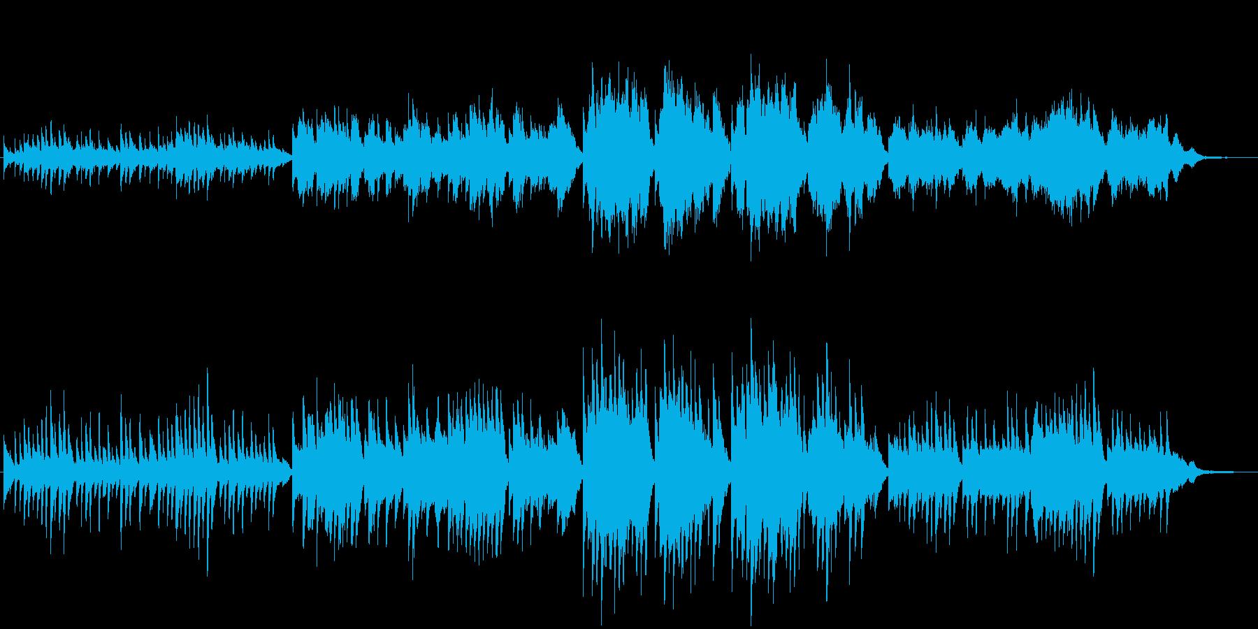懐かしく切ない雰囲気のピアノカルテットの再生済みの波形