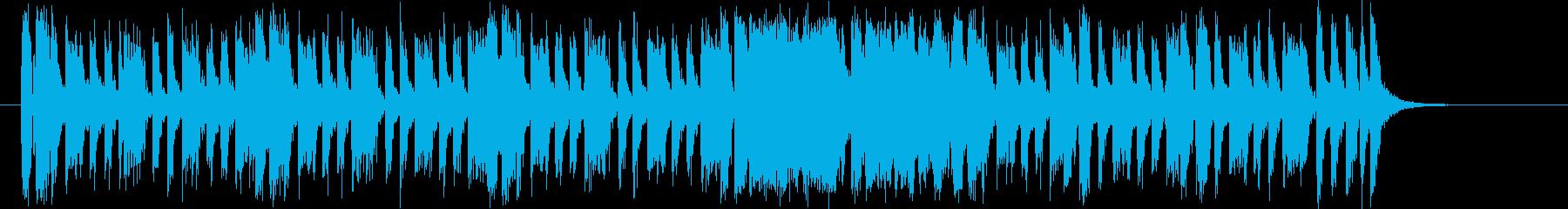 明るいピアノのロックバンドのジングルの再生済みの波形