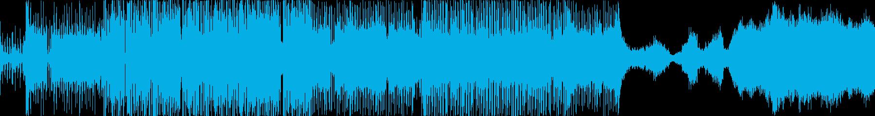 知的でクールな電子曲の再生済みの波形