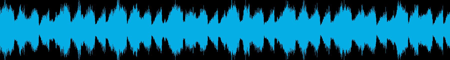 ループする神秘的なBGMの再生済みの波形