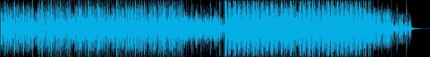Futuristic and inorganic techno music's reproduced waveform