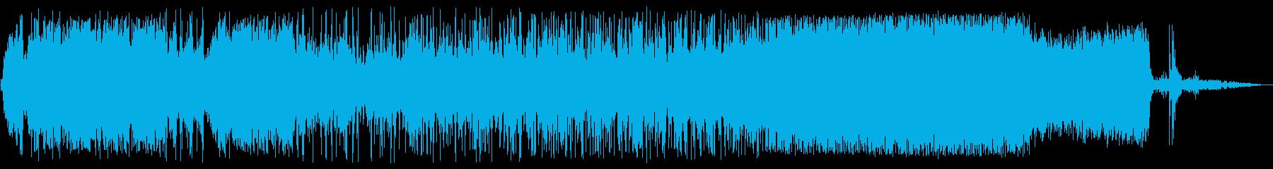 蛇口から水が出る効果音の再生済みの波形