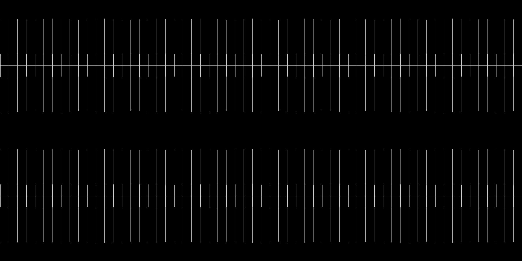 時計の針の音BPM60(実際の速さ)の未再生の波形