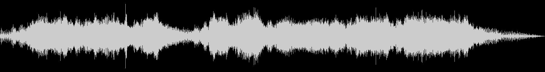 迫力あるチェーンソーの音の未再生の波形