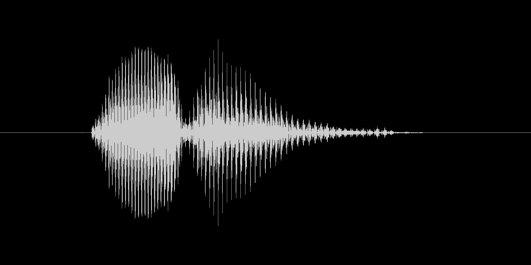 エラーの未再生の波形