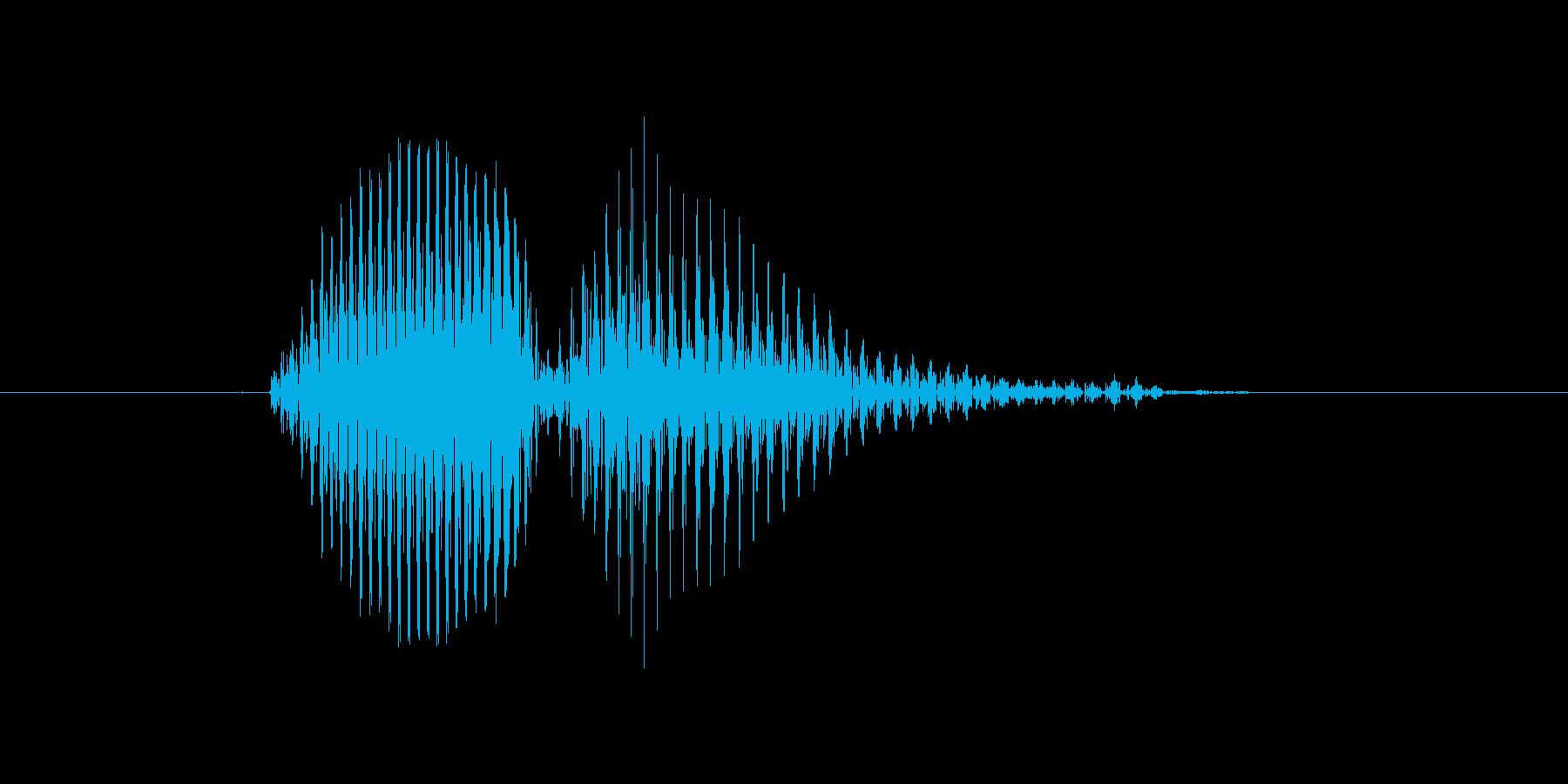 エラーの再生済みの波形