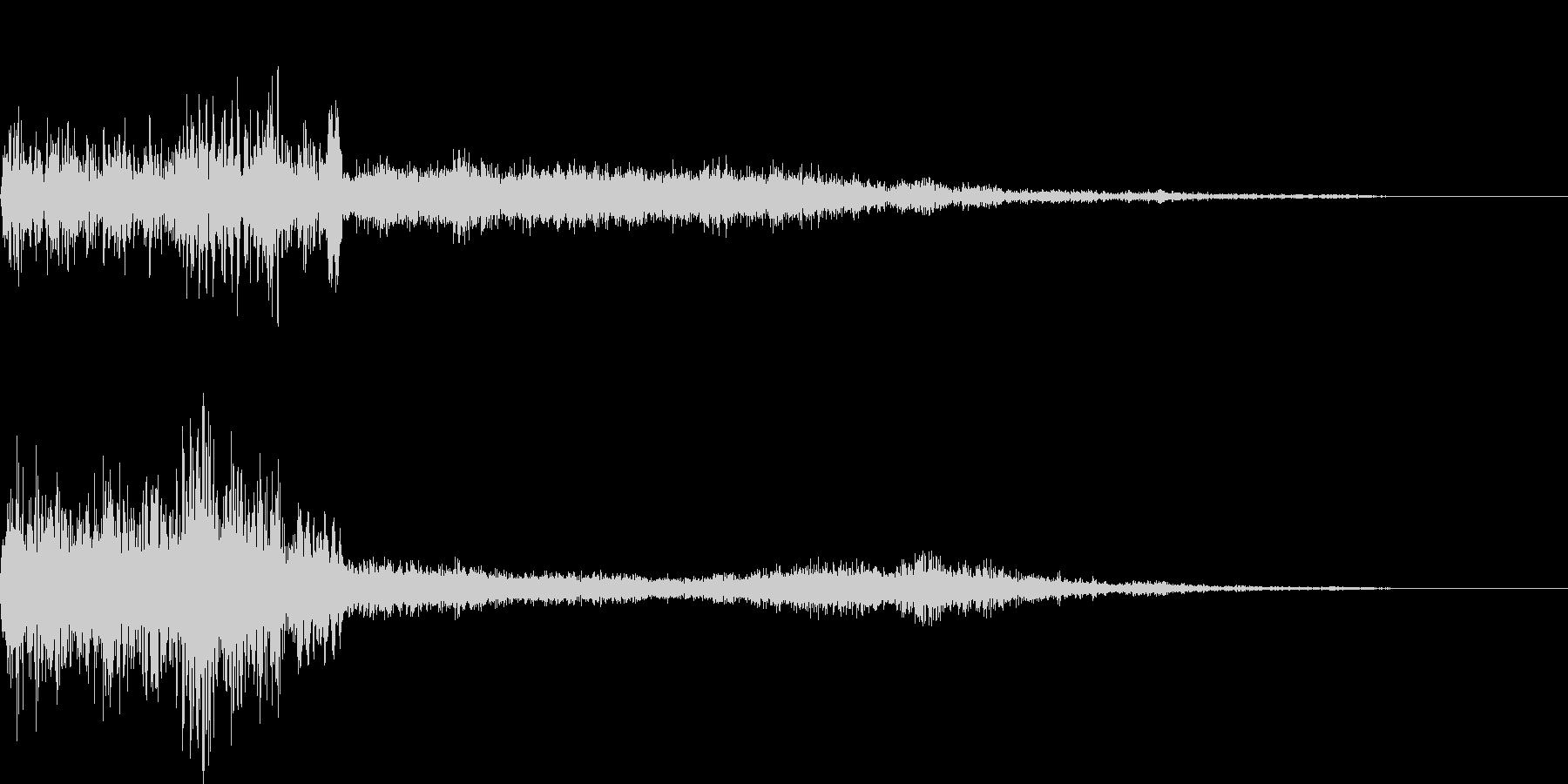デジタルフェード付きヒューズバーン...の未再生の波形