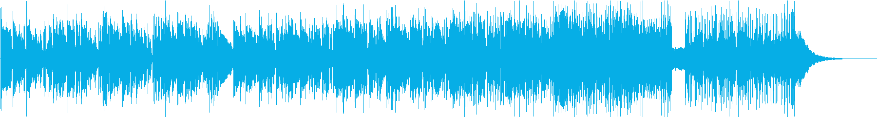 ゆったりと落ち着いたエレクトロファンクの再生済みの波形