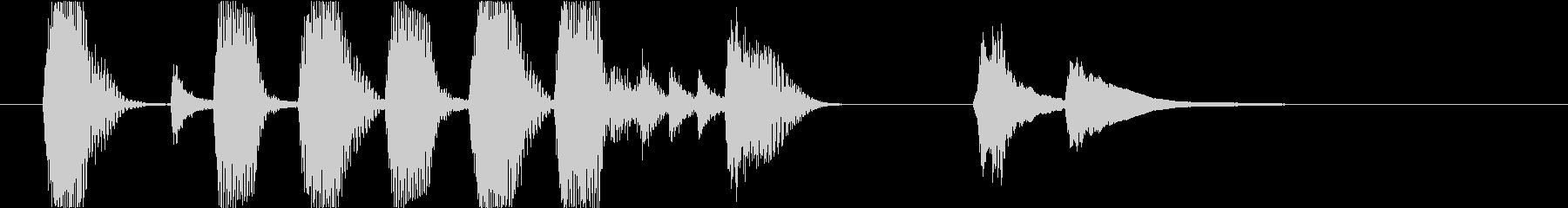 ジングル・かわいい・ピチカート・ほのぼのの未再生の波形