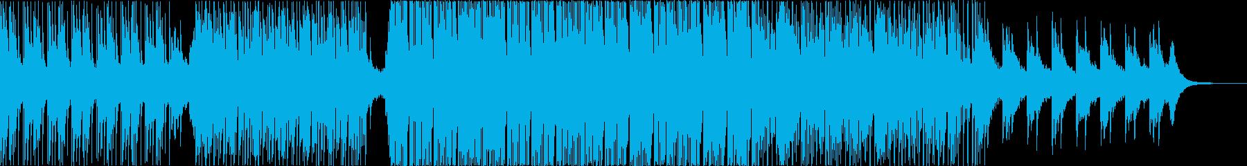 ピアノのフレーズが印象的な浮遊感のある曲の再生済みの波形