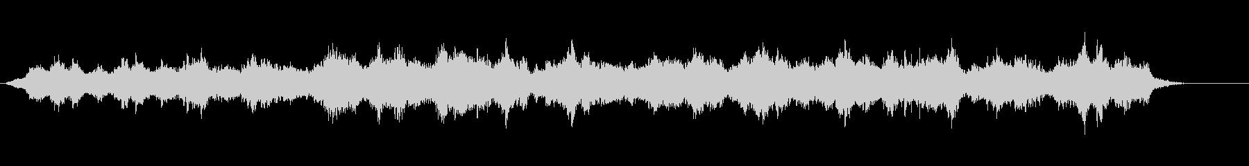 オーロラの夜をイメージした環境音楽の未再生の波形